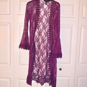 Rue21 open lace cardigan duster